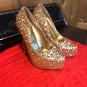 Speed Limit 98 glitter platform heels